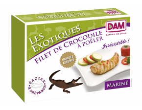 Filet de Crocodile Surgelé, Mariné Mangue/Agrumes